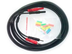 CABLE PACIENTE 2mm Negro con Clips